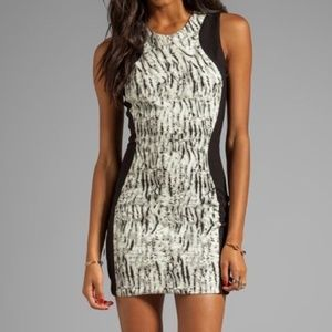 Parker Black and White Printed Bodycon